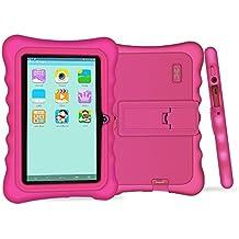 Yuntab Q88H Tablet para niños - Tablet Infantil de 7 Pulgadas Incluye iWawa Software niños Pre-instalado ( Android 4.4.2 KitKat, Quad-Core, WiFi, Bluetooth, HD 1024x600, 32 GB, 8GB ROM, Doble Cámara, Google Play) (Tableta rosa,Caja rosa)