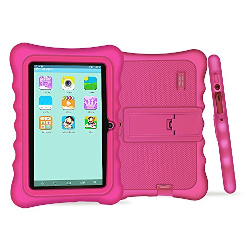 Yuntab Q88H Tablet para niños - Tablet Infantil de 7 Pulgadas iWawa Software Pre-instalado ( Android 4.4.2 KitKat, Quad-Core, WiFi, Bluetooth, HD 1024x600, 8GB, Doble Cámara, Google Play) (Q88H, ROSE)