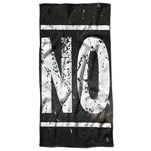 Einfach Nein Komisch Mode Befehl Jetzt 50cm x 100cm Badetuch | Wellcoda (Schnelle Und Einfache Paar Kostüm Ideen)