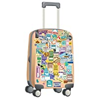 "Walplus ""Classic Luggage Labels Travel Luggage Tags"" Removable Self-Adhesive Wall Stickers Trip Suitcase Stickers Office Home Decoration, Multi-Colour, 60 x 50 cm"