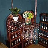 Europäische Weinglashalter hängen Weinregal auf den Kopf Weinglashalter Haushalt Weinregal Bartisch Getränkehalter (Color : Bronze, Size : 100x25cm)