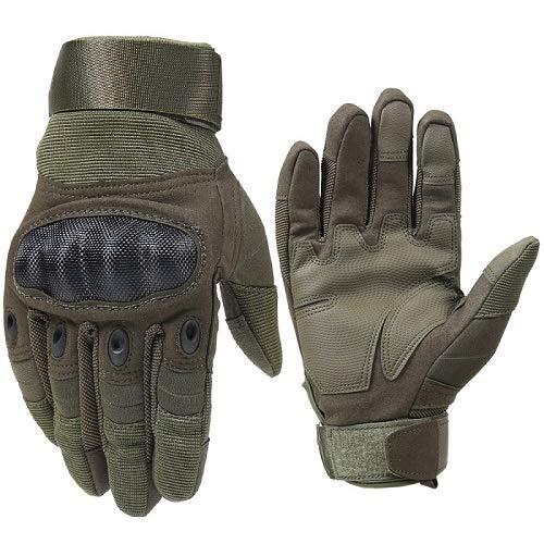IMmps Atmungsaktive Handschuhe Unisex Vollfingerhandschuhe Fashion Outdoor Racing Sporthandschuhe Offroad Motorrad Schutzhandschuhe-T3788Army Green-XL