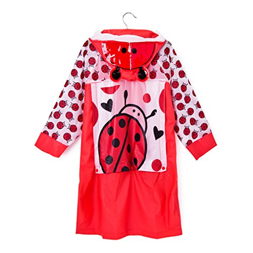 LFF.FF Cute Cartoon Children's Baby Poncho Outdoor With Inflatable Cap For Boys And Girls Raincoat,C,M