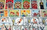 Mongolei 100 verschiedene Sondermarken (Briefmarken für Sammler)