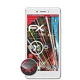 atFolix Schutzfolie passend für Oppo F1 Folie, entspiegelnde & Flexible FX Bildschirmschutzfolie (3X)