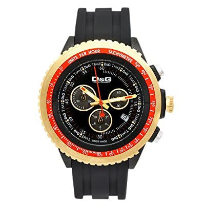 Dolce & Gabbana Time Watch SIR DW0369, Color: Black, Size: One Size