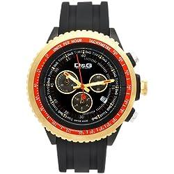 Dolce Gabbana - DW0369 - Montre Homme - Quartz - Chronographe - Chronographes - Bracelet Caoutchouc Noir