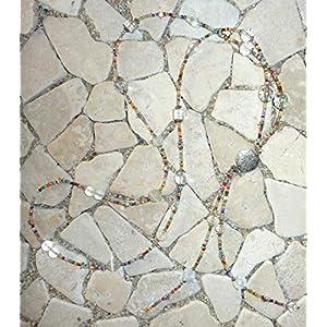 lange Y – Kette – bunt, kristall & weiß –