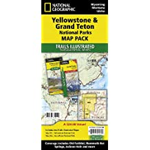 National Geographic Trails Illustrated Topographic Maps Yellowstone & Grand Teton National Parks Map Pack-