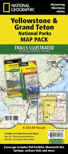Yellowstone/grand Teton National Parks, Map Pack Bundle: Trails Illustrated National Parks (National Geographic Trails Illustrated Topographic Map) por National Geographic Maps