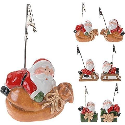 3 unidades de soporte para foto - titular de la tarjeta - árbol de Navidad decorativo para tarjetas de mesa para Navidad de Papá Noel
