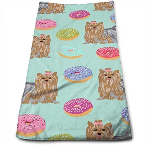 Wodann Yorkie Hund süße Minze Donuts Yorkshire Terrier süße Hunde besten Hund Handtücher Geschirrtuch Floral Leinen Handtücher super weich 11,8