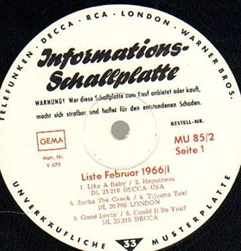 Informationsschallplatte - Liste Februar 1966/1