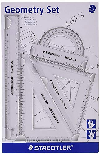 Staedtler 569 PB4-0 TH Geometrie-Set, klein, 4-teilig, Transparent
