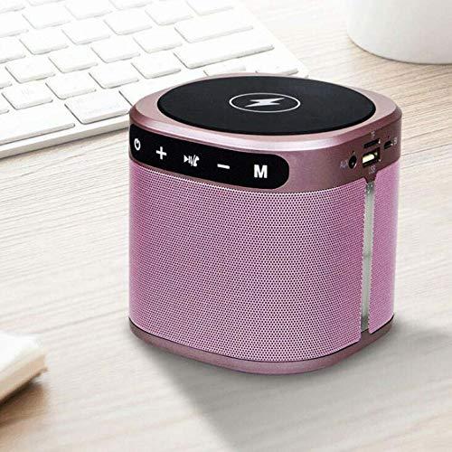 CE-LXYYD E201 tragbare drahtlose Lade-Bluetooth-Lautsprecher, tragbare Mini Outdoor kreative Karte Bluetooth Audio mit Ladefunktion,Pink