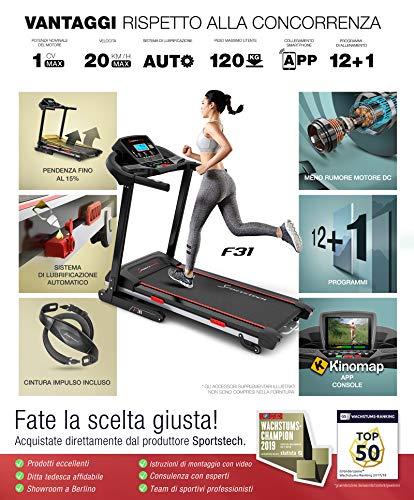 Zoom IMG-1 sportstech f31 tapis roulant elettrico