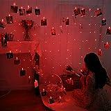 LED Liebe Herz Lichter Foto Clip Lichterketten Bild Lichter Für Party Home Hintergrund Schlafzimmer Hängende Foto Dekoration,Red