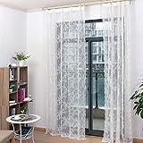 Vorhang mit Blumenmuster aus Spitze, Dekoration für zu Hause/Schlafzimmer, 150 x 100 cm, weiß, 150 x 200 cm