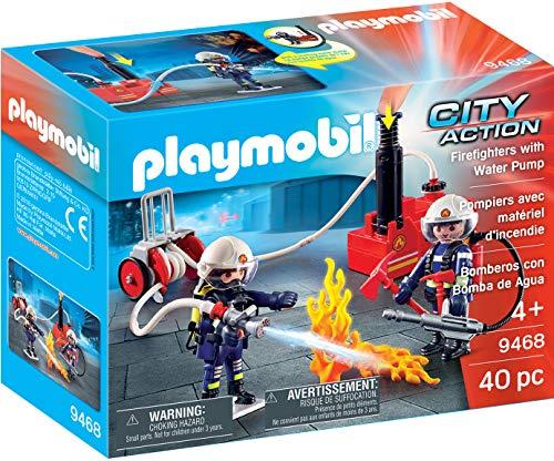Playmobil Pompiers avec matériel d'incendie, 9468