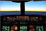 Poster 60 x 40 cm: Cockpit A340 1 von HADYPHOTO by Hady Khandani - Hochwertiger Kunstdruck, Neues Kunstposter