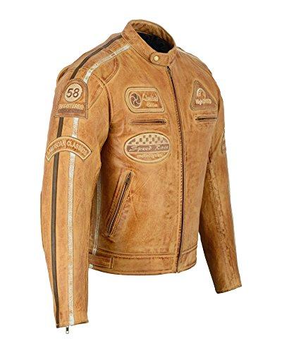 Herren - Motorradjacke aus Nappa Leder (L) - 3