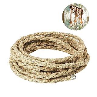 LYTIVAGEN 32Ft Natural Jute Rope 10mm Hemp Rope Thick Twine Hemp Cord for Gardening Plant Hanging Craft DIY Gift Pendant Light Fence