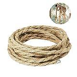 LYTIVAGEN 100% Cuerda de Cáñamo Natural,Cuerda Gruesa de Yute 10 mm x 10 m...