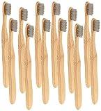 newgen medicals Biologische Zahnbürste: Antibakterielle Bambus-Handzahnbürste, medium, 12-er Set (Antibakterielle Zahnbürste)