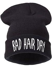 "4sold Bonnet Inscription ""Bad Hair Day"""
