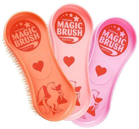 Magic Brush Pflegeset 3 tlg. Bürstenset für Pferde, für Fell Huf Bein Pferdebürste Putzzeug (Pferde-pflege-set)