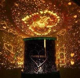 (tankerstreet Projektor Nacht Lampe LED Star Light Nachtlicht Projektor Highlight Star Light Valentinstag Weihnachten Geschenk)
