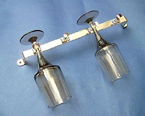 2x Weinglas Halter für 4 Gläser Metall Chrom Beschichtet - Wohnmobil 255mm Lang