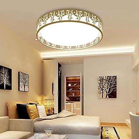 WAWZW Vintage Decke Licht Schatten Retro Deckenleuchte Modern für Flur, Schlafzimmer, Küche, Kinderzimmer, Wohnzimmer 54cm - LED-Rundschreiben, weißes Licht