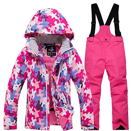 036b8808 Trajes de esquí Chaqueta de esquí Dawn para niño niña Impermeable a la  Nieve Chaqueta y pantalón Conjunto Ropa de Abrigo al Aire Libre para ...