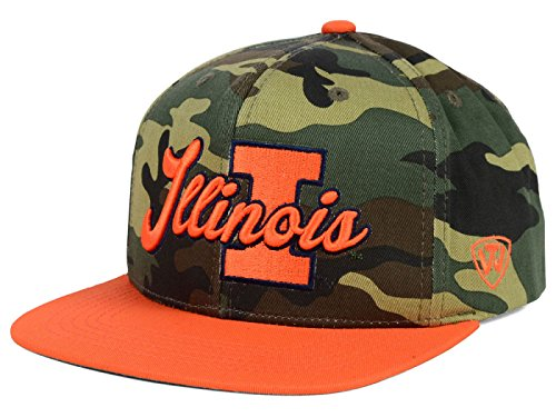 Top of the World Illinois Fighting Illini NCAA Blaster Snapback Mütze Camouflage/Orange - Orange Camouflage Cap