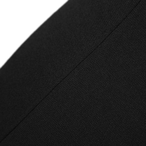 JNTworld Femmes Long Manche Léopard moulante Partie de Soirée Crayon Robe Noir