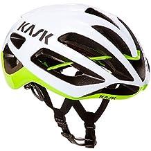 Kask Protone, Casco de Ciclismo Multiuso, Blanco/Verde, M