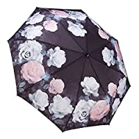 Galleria Auto Folding Umbrella - Vintage Roses