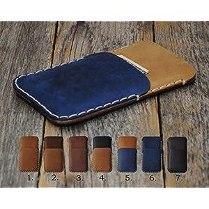 Leder Case Pixel XL Google Nexus 6P 6 5X 5 Etui Hülle Tasche Cover personifiziert durch Prägung mit ihrem Namen