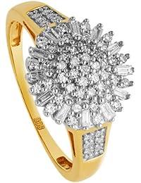 Diamond Line Damen-Ring - 585erGold - 67 Diamantenca. 0,5 ct. gelbgold