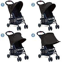 XCSOURCE® Cochecito Para bebés Sombra de sol Protección UV Rayos Cubierta Toldo Negro WV248
