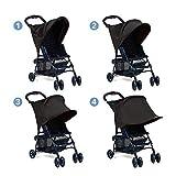 XCSOURCE infantile del bambino Passeggino Parasole protezione raggi UV copertura Tenda Nera WV248 immagine
