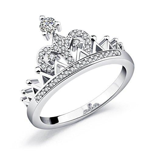 Eternity Love Queen Crown Womens Ring Silber-Ton 1.7mm Komfort Fit Hochzeit Band Ring