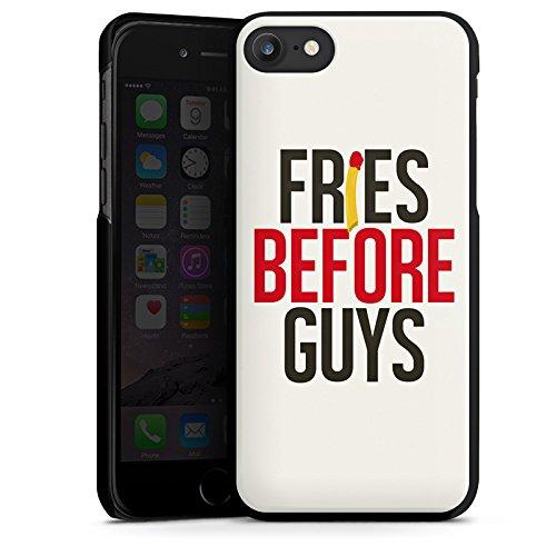 Apple iPhone X Silikon Hülle Case Schutzhülle Freundschaft Statement Sprüche Hard Case schwarz