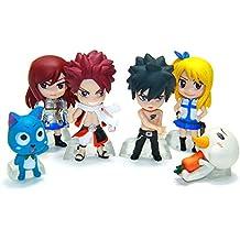 Fairy Tail AMZ Fan Collection Plush Figura de Acción Merchandise Toy Gift Set Manga Anime (Standing Set A)