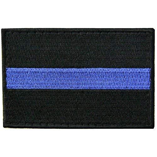 Boy Kostüm Biker - DÜNN Blau Line Patch Bestickt Tactical Aufnäher Army Moral Haken & Schleife Emblem