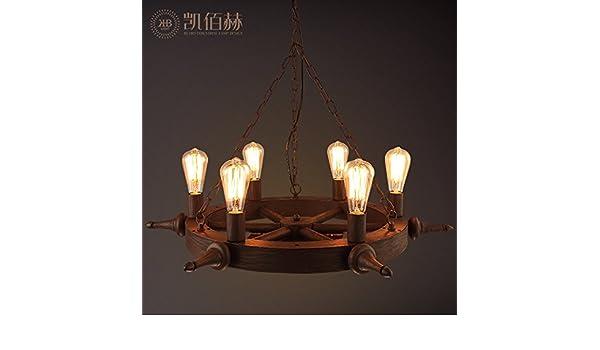 Plafoniere Da Nave : Sdkky il loft di un lampadario retrò timone della nave ristorante