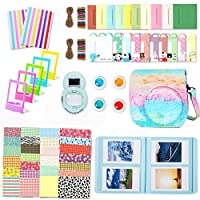 Fujifilm Instax Mini 8 Accessories, Leebotree 10 in 1 Camera Bundles Set Include Camera Case/Album/Selfie Lens/Colored Filters/Wall Hang Frames/Film Frames/Border Stickers/Corner Stickers/Pen