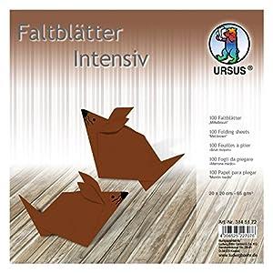 Ursus 3145172Plegable Hojas Uni, 65g/m², Aprox. 20x 20cm, 100Hojas, Color marrón Medio