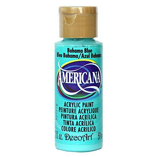 DecoArt Americana Mehrzweck-Acrylfarbe, 59 ml, Bahama Blau
